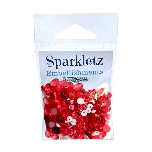 Buttons Galore - Sparkletz Collection - Embellishments - Peppermint Jazz