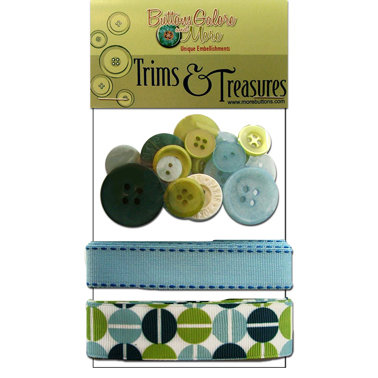 Buttons Galore - Trims and Treasures - Retro Blue