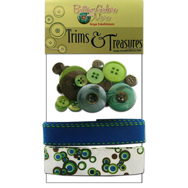 Buttons Galore - Trims and Treasures - Electric Blue