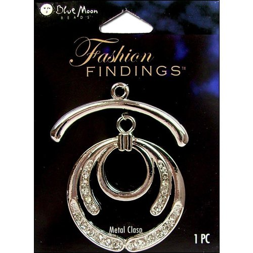 Blue Moon Beads - Fashion Findings - Metal Jewelry Clasp - Fancy Circle - Silver