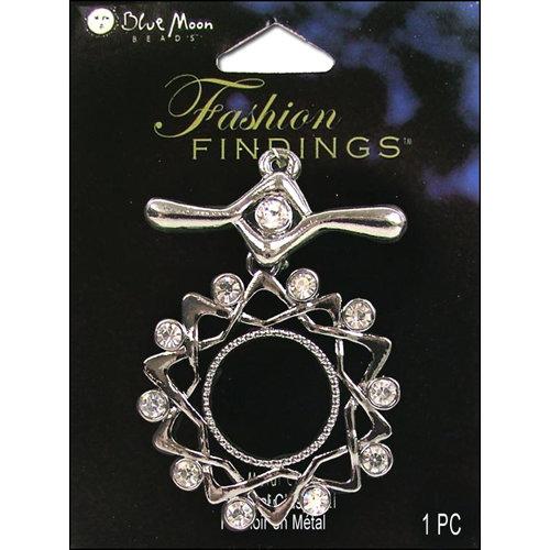 Blue Moon Beads - Fashion Findings - Metal Jewelry Clasp - Fancy Star - Silver