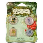 Blue Moon Beads - Fairy Tale - Metal Jewelry Charm - Epoxy Fairy - Silver