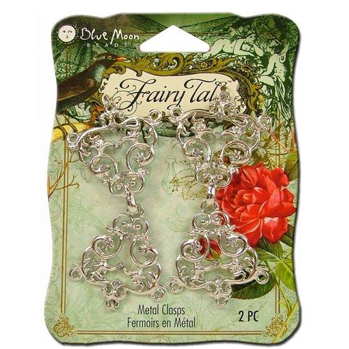Blue Moon Beads - Fairy Tale - Metal Jewelry Clasp - Fancy Filigree - Silver
