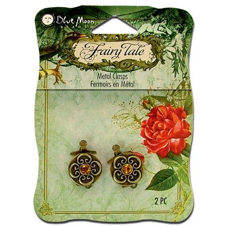 Blue Moon Beads - Fairy Tale - Metal Jewelry Clasp - Round Fancy - Ox Brass