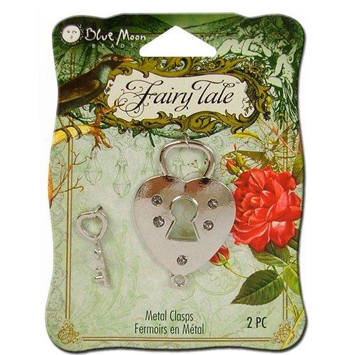 Blue Moon Beads - Fairy Tale - Metal Jewelry Clasp - Toggle Lock Key - Silver