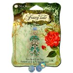 Blue Moon Beads - Fairy Tale - Glass Metal and Plastic Jewelry Drop - Blue and Silver