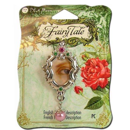 Blue Moon Beads - Fairy Tale - Metal Jewelry Pendant - Oval Eye - Silver