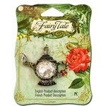 Blue Moon Beads - Fairy Tale - Metal Jewelry Pendant - Teapot