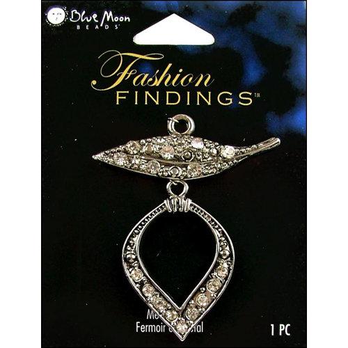 Blue Moon Beads - Fashion Findings - Metal Jewelry Clasp - Fancy Leaf - Silver
