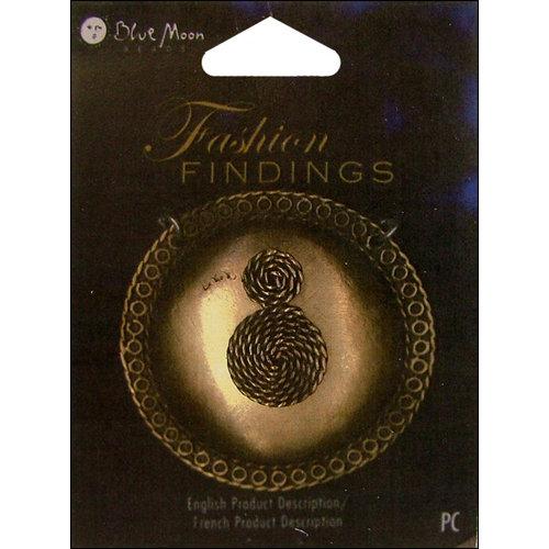 Blue Moon Beads - Fashion Findings - Metal Jewelry Pendant - Circle Braided Swirl - Ox Brass