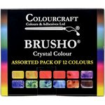 Colourcraft - Brusho - Crystal Colour - Set of 12