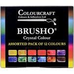 Colourcraft - Brusho - Crystal Colour - Set of 12
