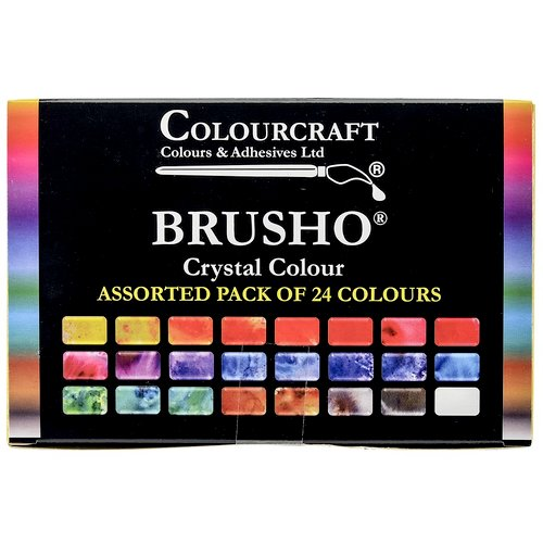 Colourcraft - Brusho - Crystal Colour - Set of 24
