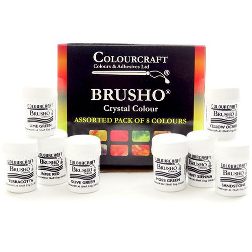 Colourcraft - Brusho - Crystal Colour - Set of 8