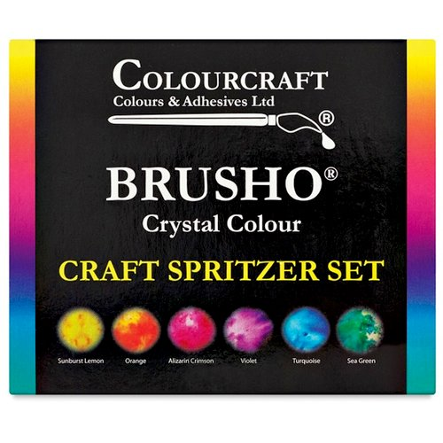 Colourcraft - Brusho - Crystal Colour - Set of 6
