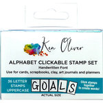 Ken Oliver - Pegz Clickable Alphabet Stamp Set - Uppercase