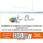Ken Oliver - Pegz Clickable Stamp Set - Numbers and Symbols