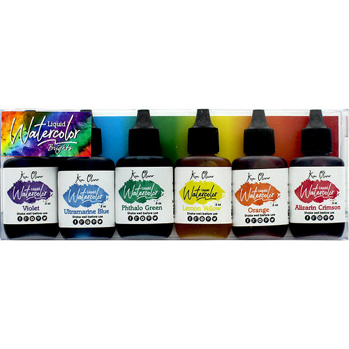 Ken Oliver - Liquid Watercolor - Brights - 6 Pack