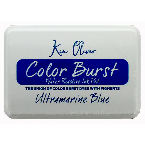 Ken Oliver - Color Burst - Water Reactive Ink Pad - Ultramarine Blue
