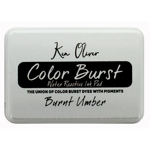Ken Oliver - Color Burst - Water Reactive Ink Pad - Burnt Umber