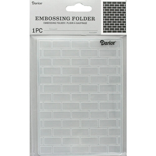 Darice - Embossing Folder - Brick Pattern