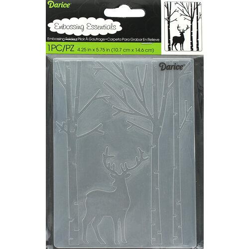 Darice - Embossing Folder - Deer In Forest