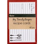Darice - Recipe Cards - Cutlery - Black and Red