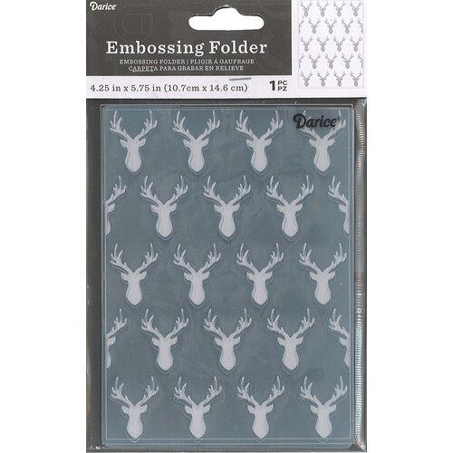 Darice - Embossing Folder - Deer Heads