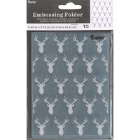 Darice - Embossing Folder - Deer Heads