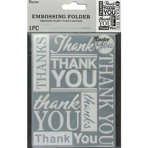 Darice - Embossing Folder - Thank You