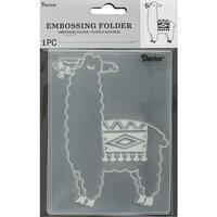 Darice - Embossing Folder - Llama