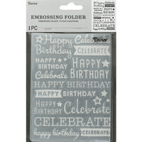 Darice - Embossing Folder - Happy Birthday Celebrate