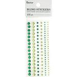 Darice - Bling Stickers - Rhinestone Round - Green