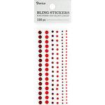 Darice - Bling Stickers - Rhinestone Round - Red