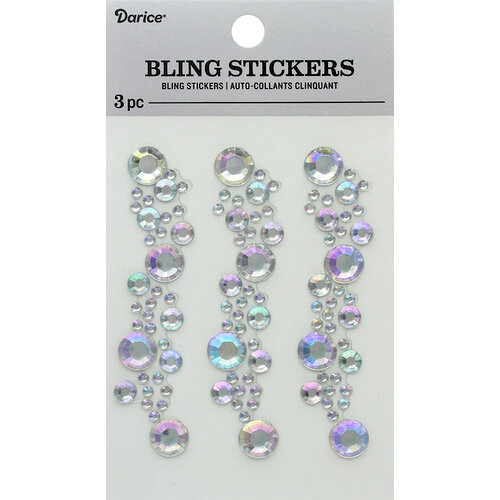 Darice - Bling Stickers - Iridescent Crystal