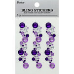 Darice - Bling Stickers - Purple and Crystal