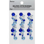 Darice - Bling Stickers - Blue and Crystal
