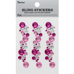 Darice - Bling Stickers - Pink and Crystal