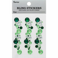 Darice - Bling Stickers - Green and Crystal