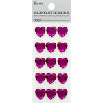 Darice - Bling Stickers - Rhinestone Heart - Pink