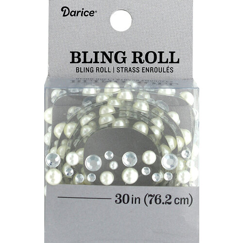 Darice - Bling Stickers - Roll - Rhinestone - Pearl and Crystal