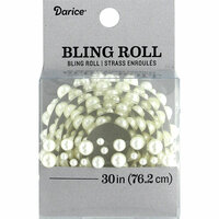 Darice - Bling Stickers - Roll - White Pearl