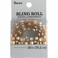 Darice - Bling Stickers - Roll - Rhinestone - Pearl Champ