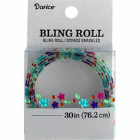 Darice - Bling Stickers - Roll - Flower, Round and Gem - Multi-Color