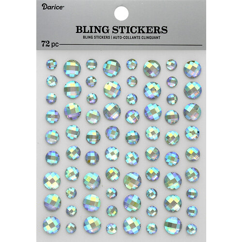 Darice - Bling Stickers - Rhinestone - Iridescent Clear