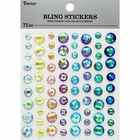 Darice - Bling Stickers - Rhinestone - Iridescent Pastel