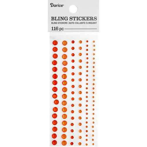 Darice - Bling Stickers - Rhinestone - Orange