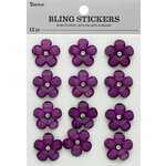 Darice - Bling Stickers - Flower - Purple