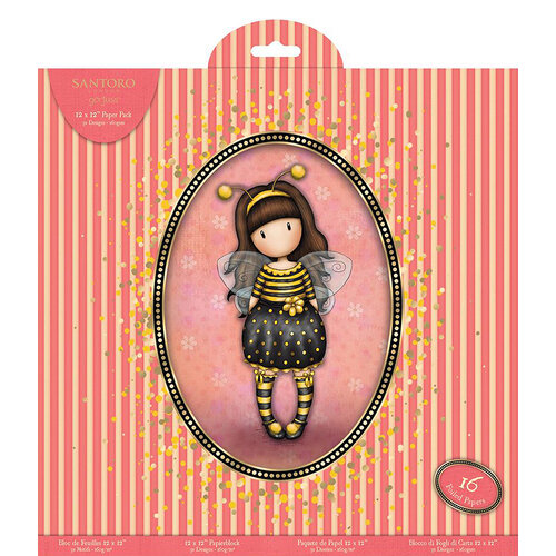 DoCrafts - Santoro Gorjuss - 12 x 12 Paper Pack with Foil Accents