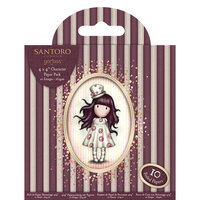 DoCrafts - Santoro Gorjuss - 4 x 4 Character Paper Pack with Foil Accents